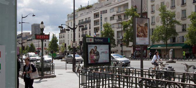 La rue de Tolbiac à Paris